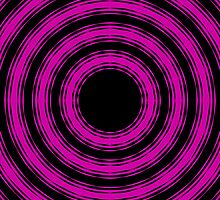 In Circles (Pink Version) by Roz Abellera Art
