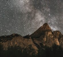 Milky Way Over Mountains- Landscape Photography Sticker