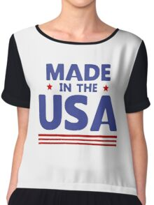Made in the USA Chiffon Top