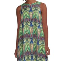 Nature Frequency A-Line Dress
