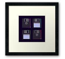 Floppies (Dark) Framed Print