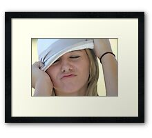 portrait of beautiful teenager women outdoor Framed Print