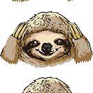 No Evil Sloth  by Huebucket
