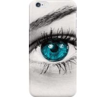 blue and green eyes iPhone Case/Skin
