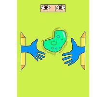 Giant Paramecium Heart Photographic Print