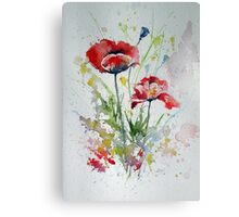 Little poppies Canvas Print