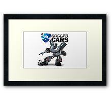 Soccer Cars Framed Print