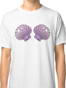 Mermaid Shells Lilac Sparkles Classic T-Shirt