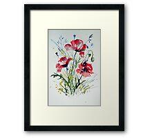 Little poppies Framed Print