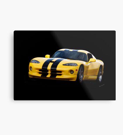 2001 Dodge Viper 'Methanol Injected' Coupe Metal Print