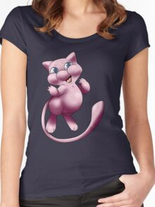 A wild MEW appeared!  Women's Fitted Scoop T-Shirt