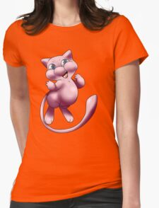 A wild MEW appeared!  Womens Fitted T-Shirt