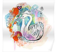 Swan Hug Poster