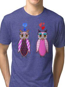 Owls love or what? Tri-blend T-Shirt