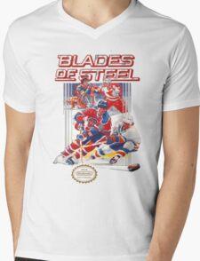 NES Blades of Steel  Mens V-Neck T-Shirt