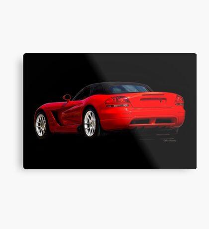 Dodge Viper 'Red Tail' Roadster Metal Print