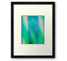 Hologram geometry Framed Print