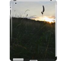 Sunset through the grass iPad Case/Skin