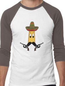 Banana Mustache Men's Baseball ¾ T-Shirt