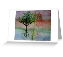 Water Trees Greeting Card