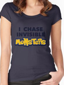 Pokemon Go I Chase Invisible Monsters Women's Fitted Scoop T-Shirt