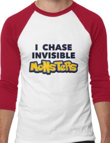 Pokemon Go I Chase Invisible Monsters Men's Baseball ¾ T-Shirt