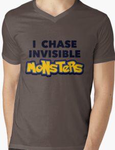 Pokemon Go I Chase Invisible Monsters Mens V-Neck T-Shirt
