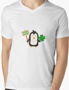 Good Luck Penguin Mens V-Neck T-Shirt