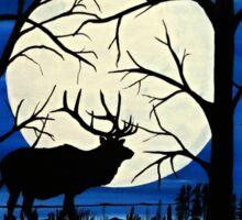 Silhouette elk Sticker