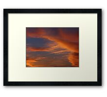 Whispy Night time clouds Framed Print