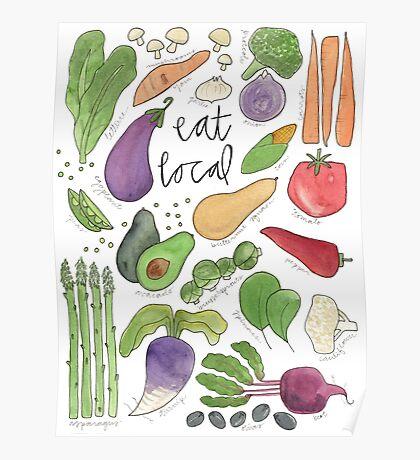 Eat More Veggies Poster