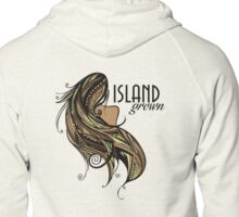 Island Grown Tapa Zipped Hoodie