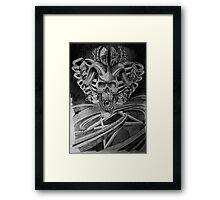 Devil skull  Framed Print