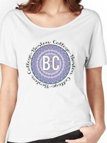 Boston College Purple Mandala Women's Relaxed Fit T-Shirt