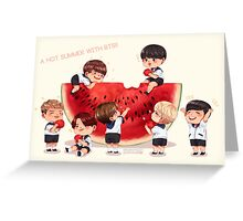 A hot summer with BTS! Greeting Card