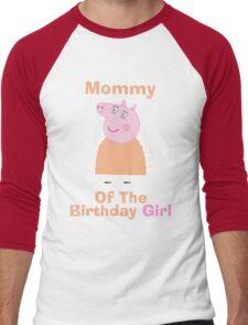 Mommy (HBD) girl Men's Baseball ¾ T-Shirt
