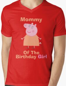 Mommy (HBD) girl Mens V-Neck T-Shirt