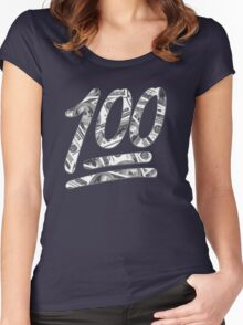 Funny 100 Dollar Bills Women's Fitted Scoop T-Shirt
