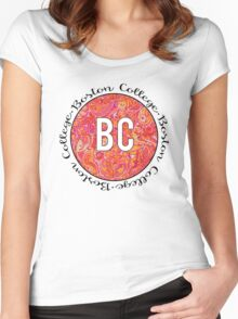 Boston College Red/Orange Women's Fitted Scoop T-Shirt