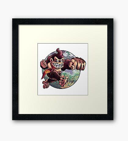 Donkey Kong is Here! Framed Print