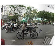 Traffic in Ho Chi Minh Poster