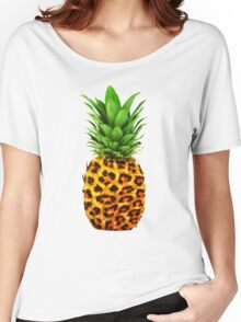 Cheetah Pineapple Women's Relaxed Fit T-Shirt