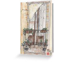 Barcelona Terrace in El Born Greeting Card