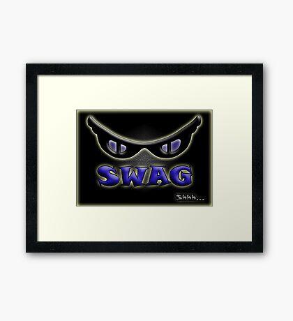 SWAG Shhh... Framed Print