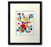 Circles patterns coloured  Framed Print