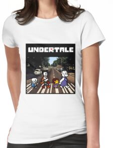 Undertale Abbey Road Womens Fitted T-Shirt