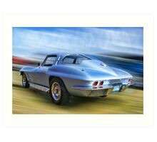 Speed,Style,......And Beauty ( 63 Vette ) Art Print