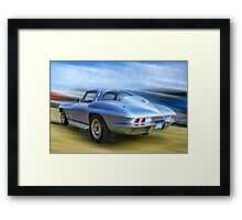Speed,Style,......And Beauty ( 63 Vette ) Framed Print