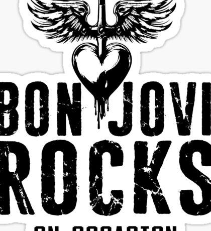 Supernatural Quote  Bon Jovi rocks Sticker