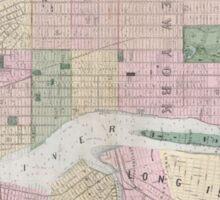 Vintage Map of New York City (1873) Sticker